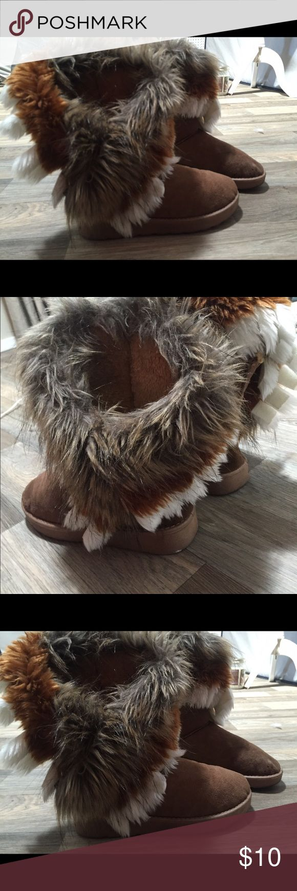 furry boots furry Indian boots Xiuxian Shoes Ankle Boots & Booties