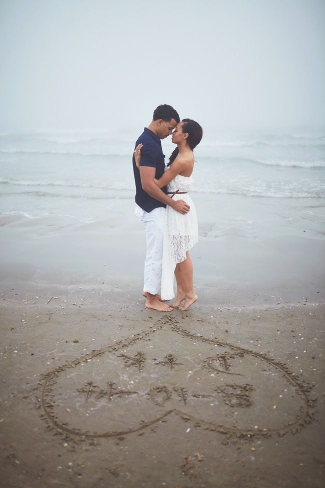 Beach Engagement Shoot by CivicPhotos