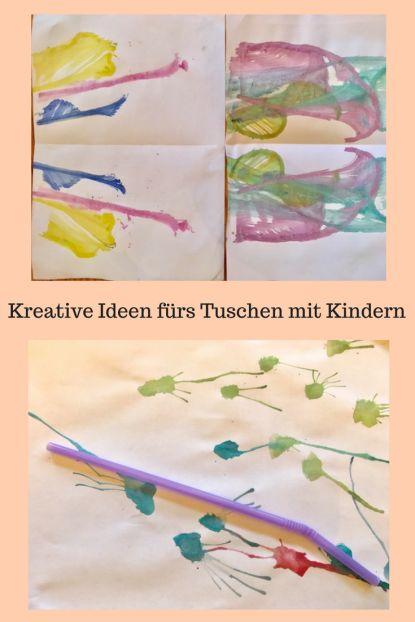 DIY für Kinder: Malen mit Wasserfarben, kreative Ideen für Tuschen mit verschi…