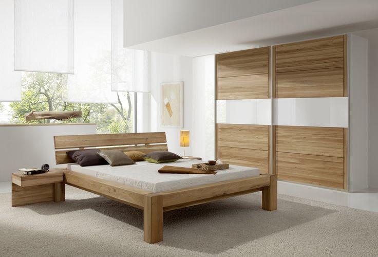 Stunning Schlafzimmer Mit Bett X Cm Weiss Ultra Hochglanz Wildeiche Massiv Woody