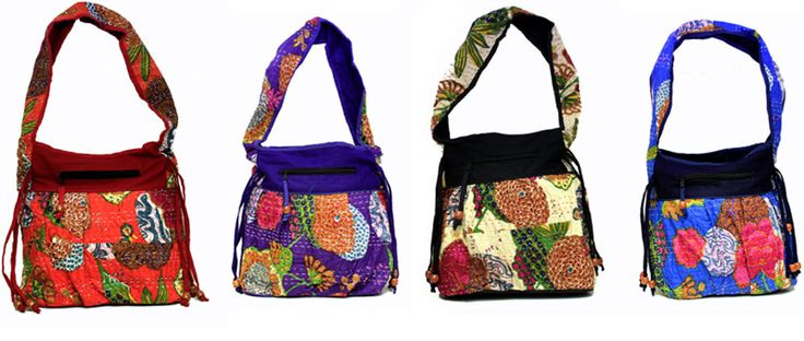 10 Cotton Casual Indian Kantha Style Women Shoulder Boho Wholesale Bags #Handmade #ShoulderBag