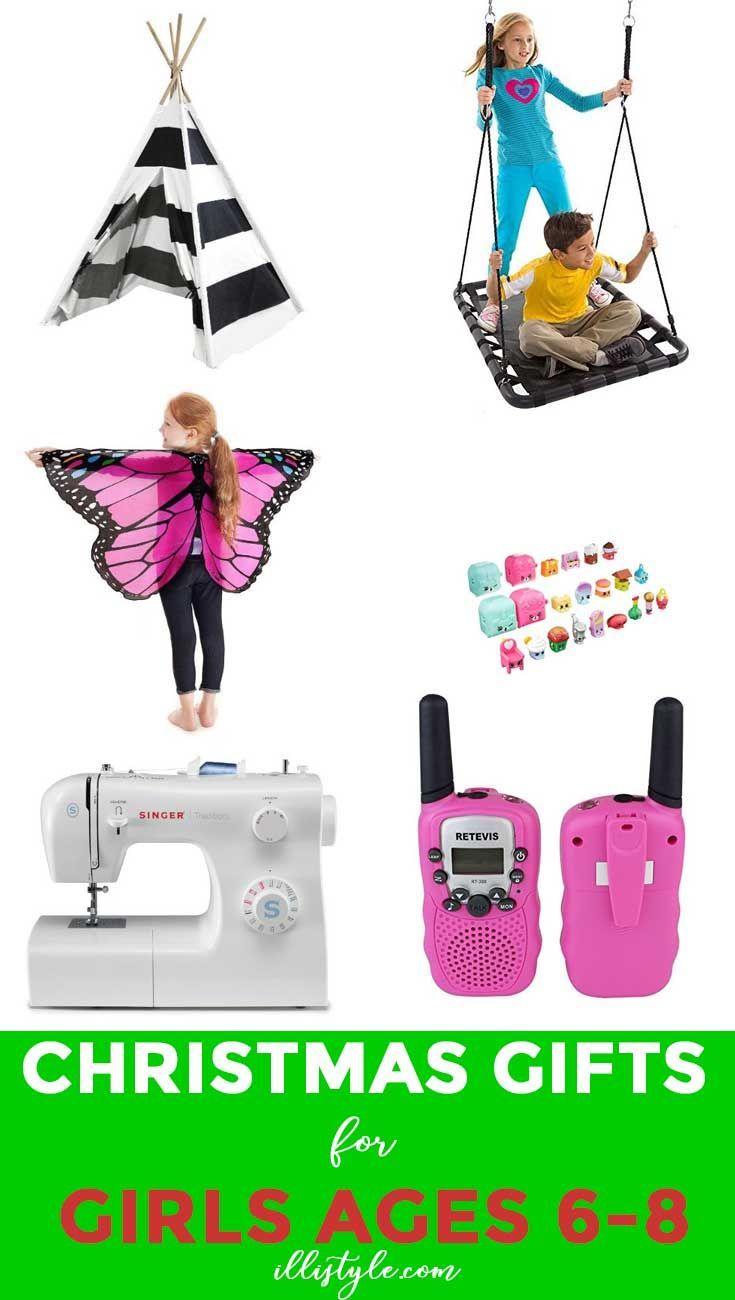 Check out these 20 gift ideas for 6-8 year old girls! So many fun things for them. This is the perfect list for holiday and Christmas gifts