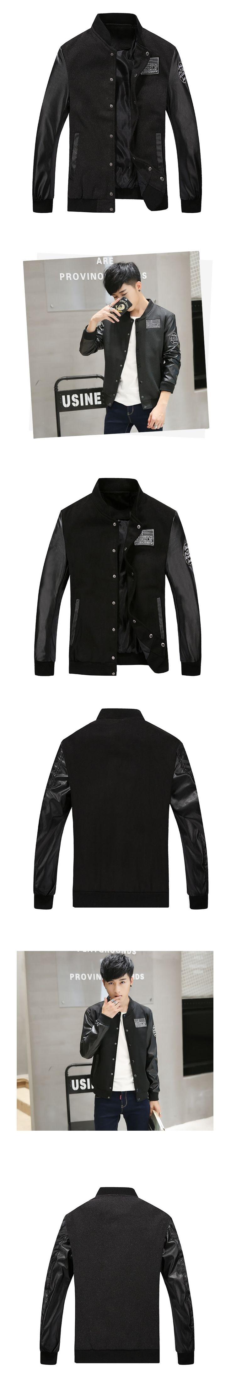 Jacket Bomber Men Spring Autumn Luxury Casual Windbreaker Outwear Warm Slim  Mandarin Collar Jacket Mens Clothing