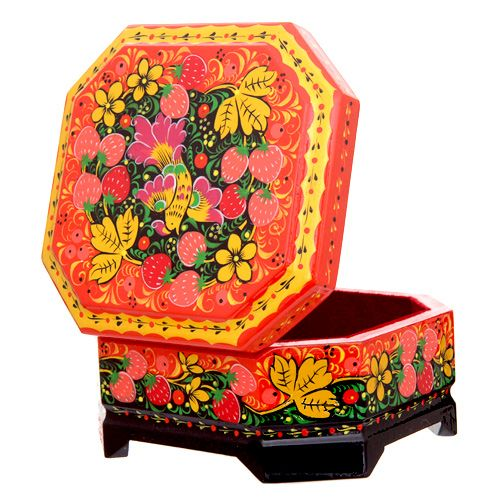 Khokhloma jewelry box