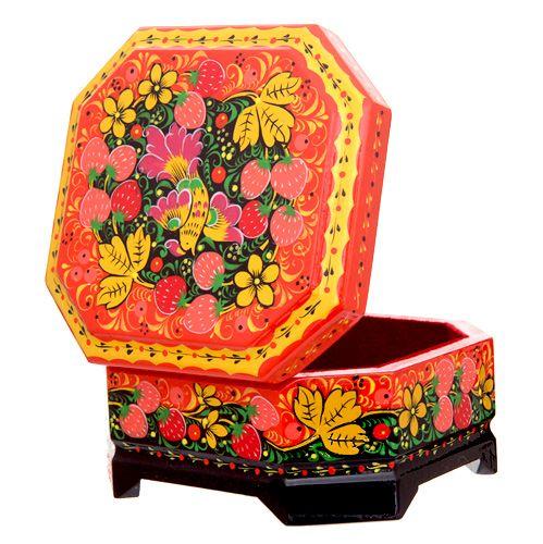 Khokhloma jewelry box