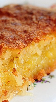 French Coconut Pie: 4 tablespoons (1/2 stick) butter, melted 2 eggs, beaten 1 tablespoon all-purpose flour 3/4 cup sugar 1 (3 1/2–ounce) can shredded sweetened coconut (about 1 cup) 1 cup milk 1 (9-inch) unbaked pie shell Preheat oven to 350 degrees F. In a large bowl, combine melted butter, eggs, flour, sugar, coconut, and milk. Pour into pie shell. Bake until firm, about 45 to 60 minutes.