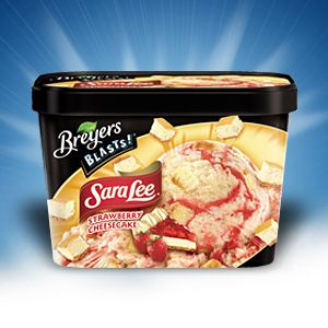 Breyers Blasts Sara Lee Strawberry Cheesecake Ice Creamstrawberry