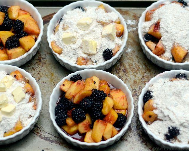 peach and black raspberry cobbler — A Brown Table