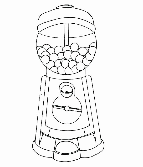 Gumball Machine Coloring Page Beautiful Gumball Machine Coloring Page At Getcolorings Coloring Pages Frozen Coloring Pages Gumball Machine