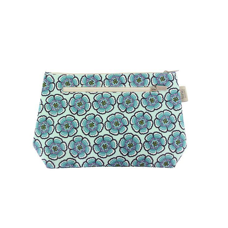 Flora Sea Green Small Cosmetic Bag