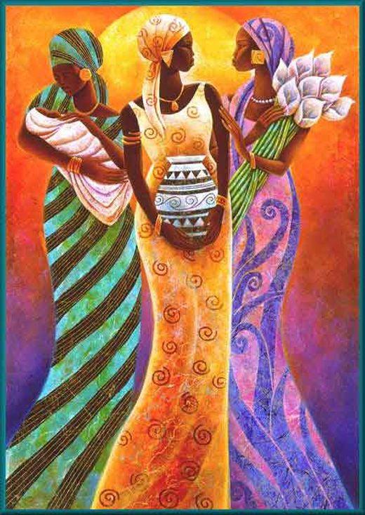 Pintura de africana - Imagui