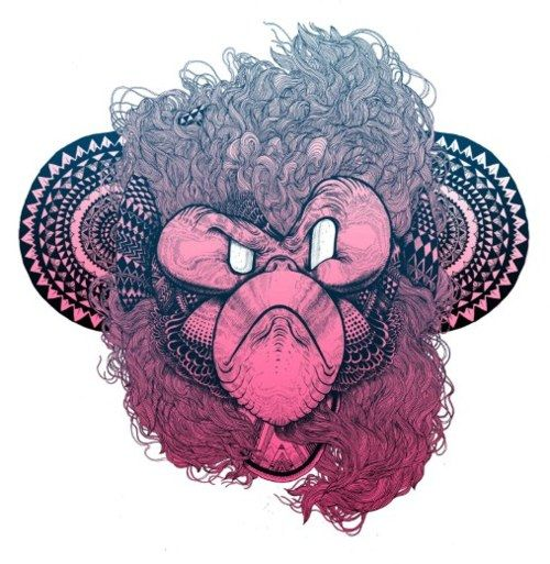 hot pink ape