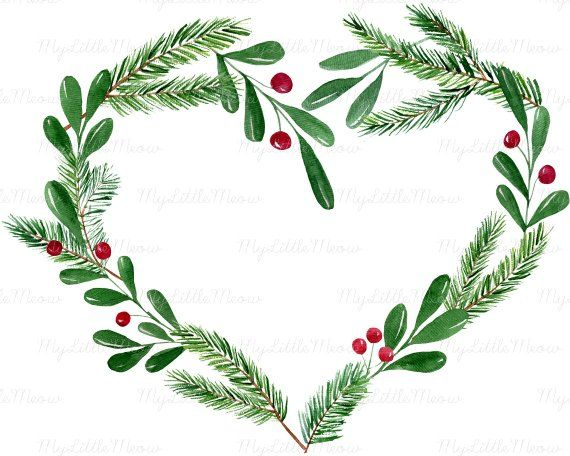 Watercolor Christmas Wreath Png.Pin On Products