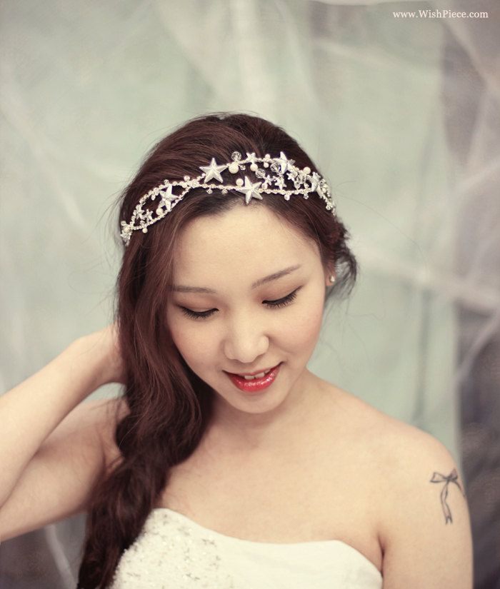 Bridal Hair Accessories, Wedding Headband, Wedding Headpiece, Wedding Hair Star. $260.00, via Etsy.
