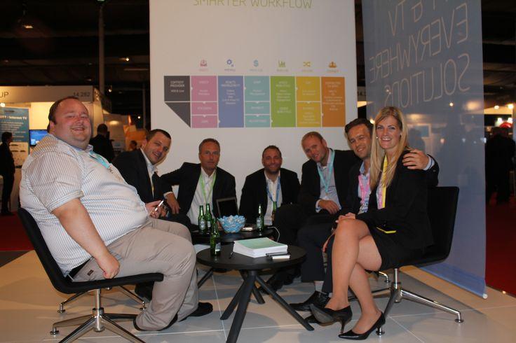 The Xstream dream team at #IBC2013 #Movefaster #Xstream #mediamaker