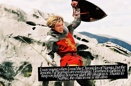I remember my dad reading them to me and I remember him crying when he read the last battle. It mesmerized me and now I think maybe he too wished he was a part of Narnia
