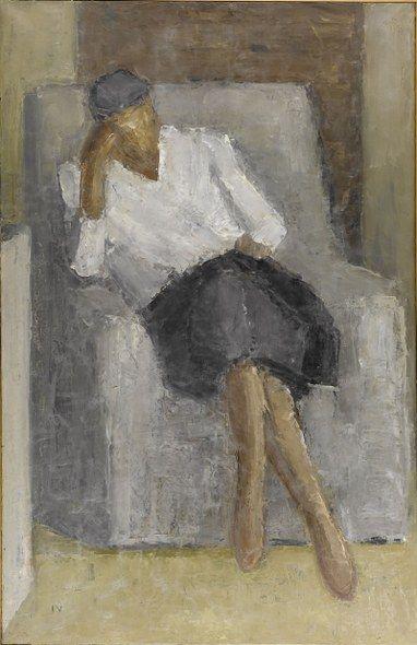 Jeppe Vontillius - Kvinde i hvid bluse