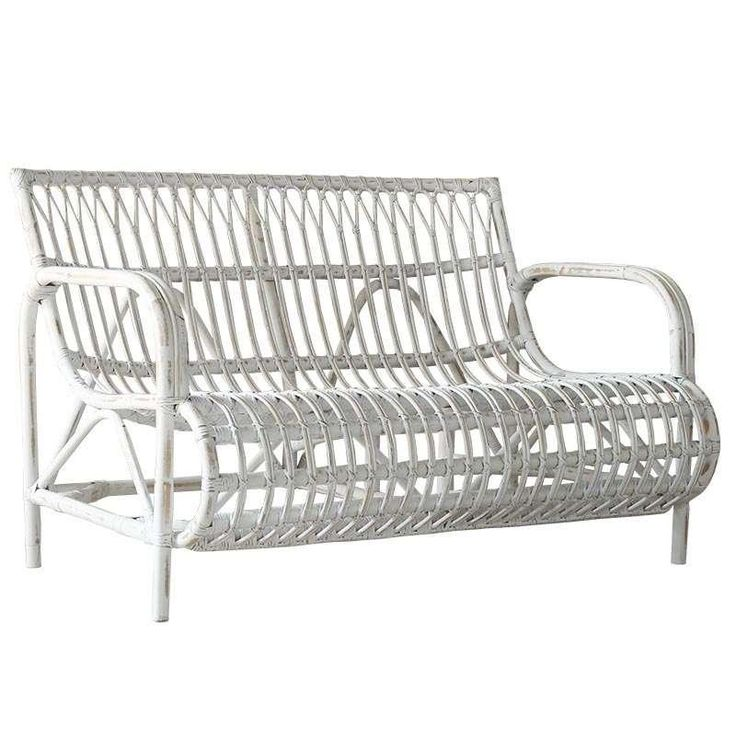 RATTAN SOFA IN WHITE WASHED  COLOR 120X79X80