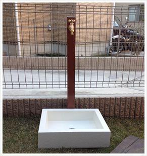【楽天市場】エクステリア> Water Goods> 立水栓> 施工画像:ガーデンマート