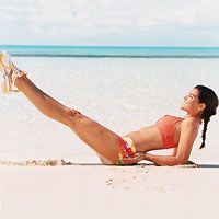The 20-Minute Pilates Workout: 4 Weeks to a Bikini Body: 7. Half-Seated Hip Circle