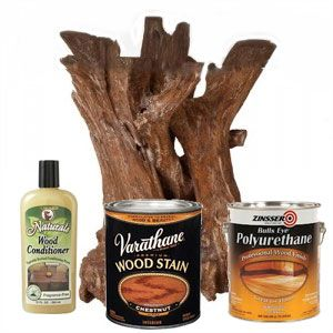How to refinish driftwood in 4 steps to make it last a lifetime using Driftwood Weathered Wood Finish or a wood stain.