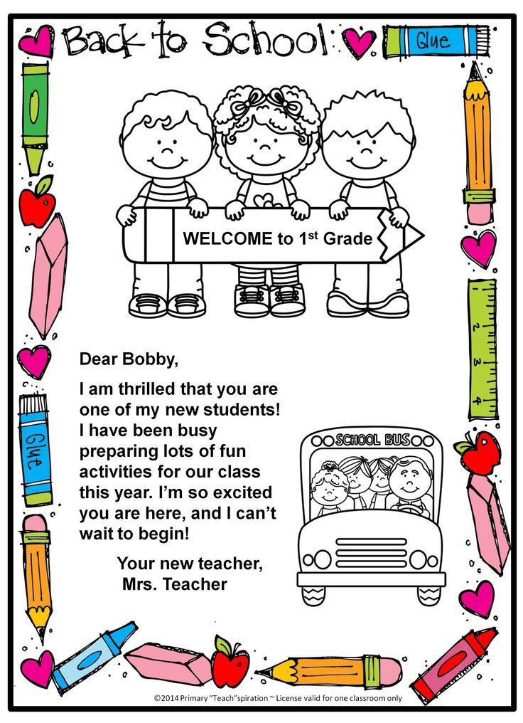 FREE Back-to-school welcome letter and postcard {Editable} (scheduled via http://www.tailwindapp.com?utm_source=pinterest&utm_medium=twpin&utm_content=post9588288&utm_campaign=scheduler_attribution)