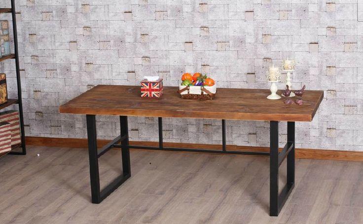LOFT мебель американский стиль кантри изготовлен из твердой древесины стол стол компьютерный стол Старые железные барных стоек Французский