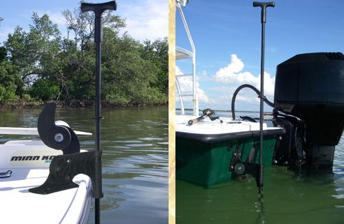 Stickit Anchor Pin System For Shallow Water Boats