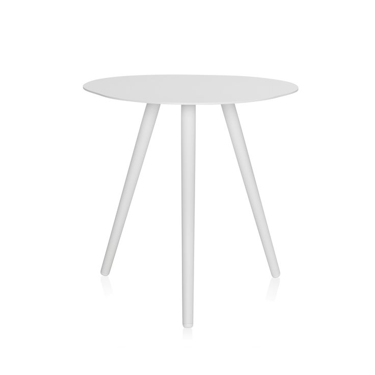 An elegant and contemporary outdoor side table with a natural shape.
