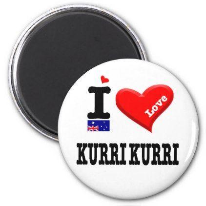 KURRI KURRI - I Love Magnet - love gifts cyo personalize diy