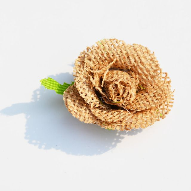 6 adet doğal jüt hessian çiçek dekoratif el yapımı çuval gül vintage diy craft düğün dekorasyon noel hediye aksesuarları