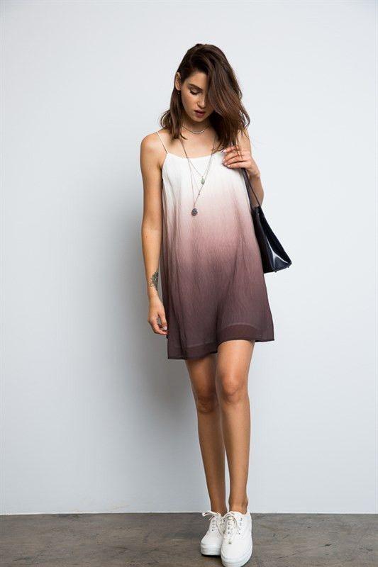 sleeveless ombre tank dress