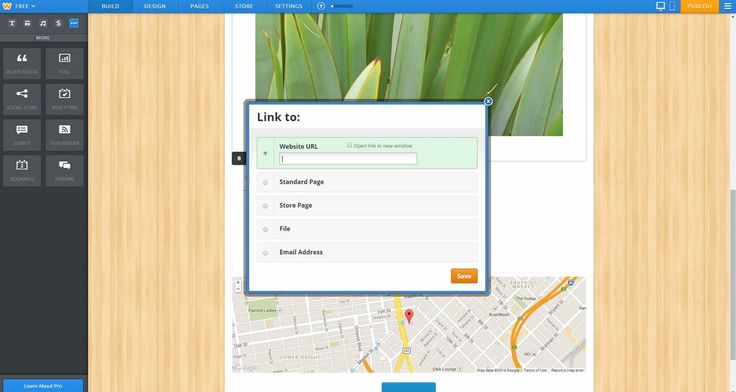 Weebly Linking UI