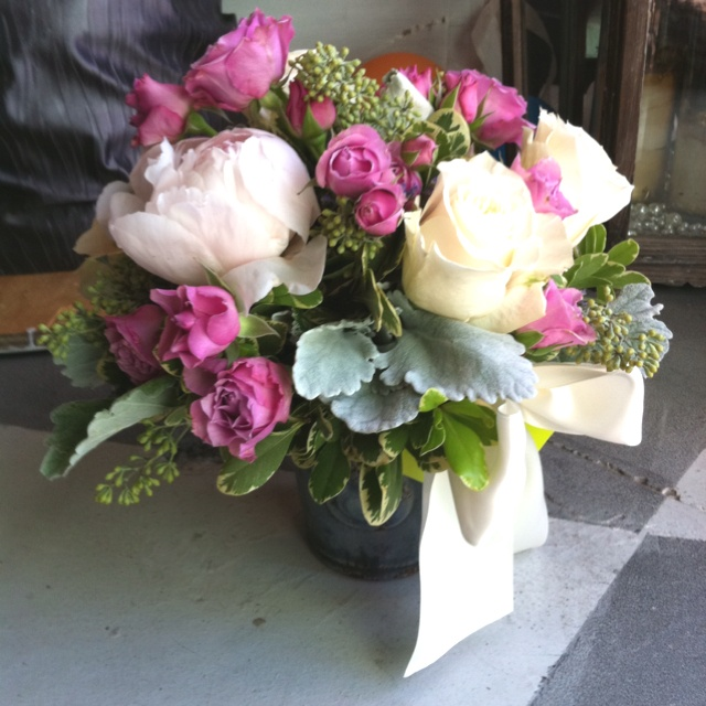 Peonies & Dusty Miller: Flowers Deliveries, Dusty Miller