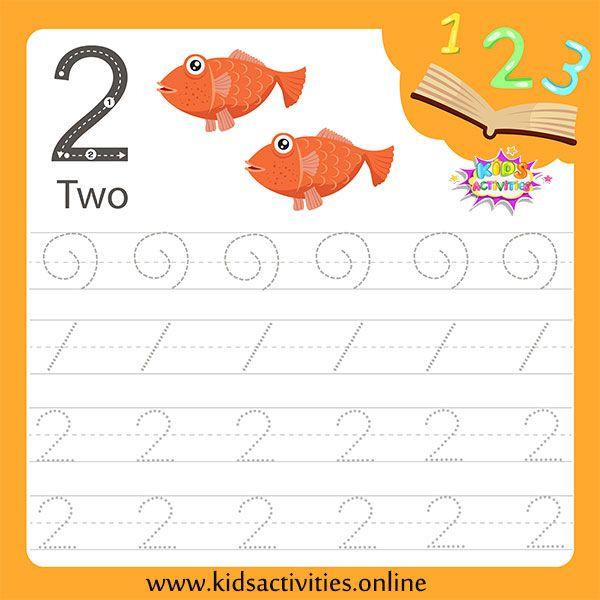 Tracing Numbers Worksheets For Kindergarten Pdf