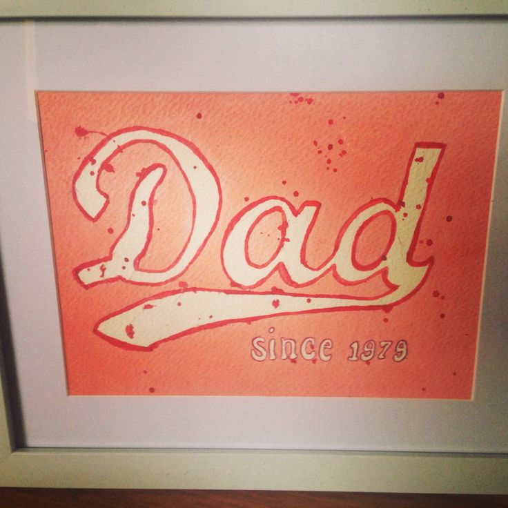 Father Day DIY watercolour coke style picture.