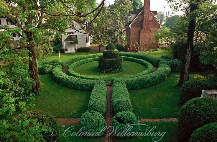 164 best images about colonial williamsburg gardens on for Garden design 18th century