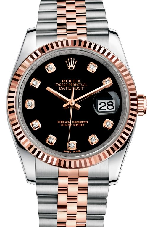 Rolex 116231 bkdj Datejust 36mm Steel and Everose Gold. #rolex