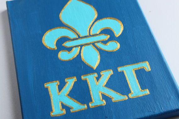Kappa Kappa Gamma and Fleur De Lis canvas room by ColorOnTheWalls, $20.00