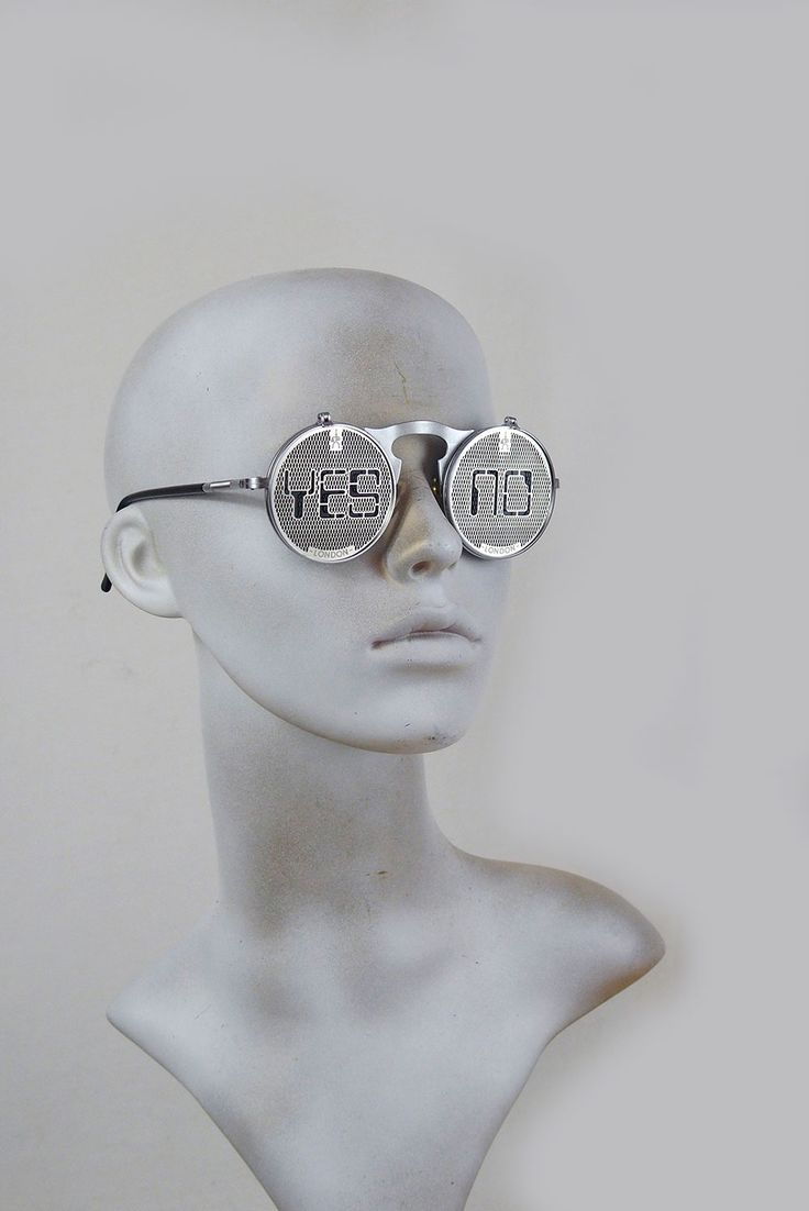 Round metal flip up sunglasses perforated stainless steel lens Yes No