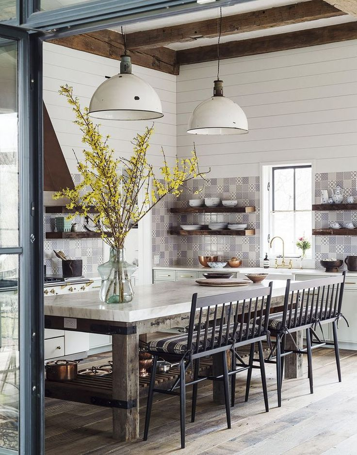 House Tour A Farmhouse That Defies Definition Coco Kelley DefinitionsHouse ToursFarmhouseDining Room