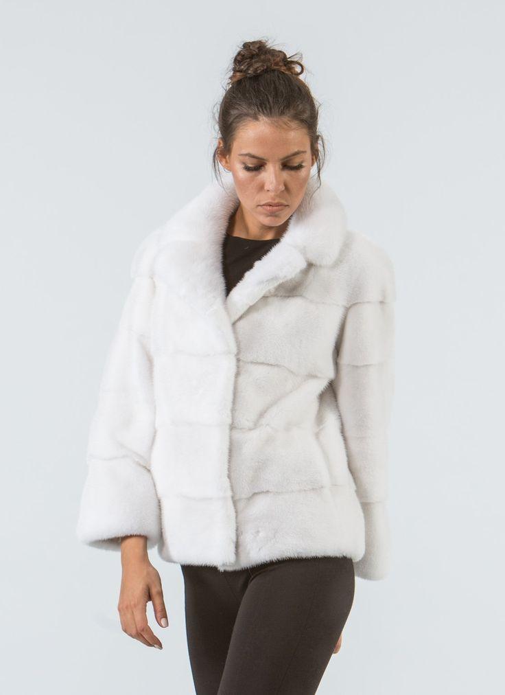 White Mink Short Fur Jacket     #white #mink #fur #jacket #real #style #realfur #elegant #haute #luxury #chic #outfit #women #classy #online #store