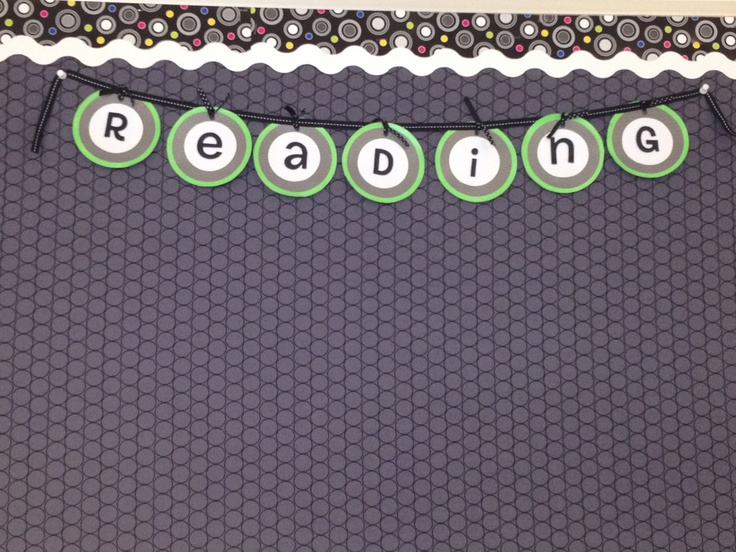 Reading Bulletin Board Use Letter Pin To Create