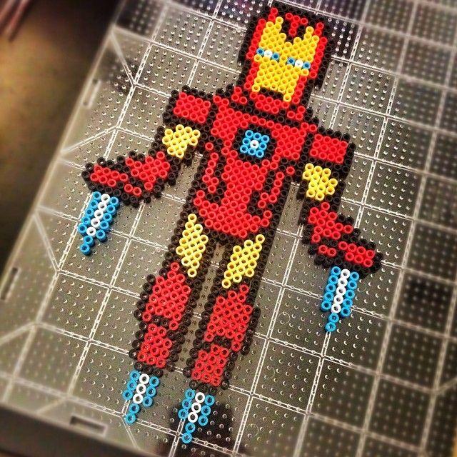 Iron Man perler beads by michy86