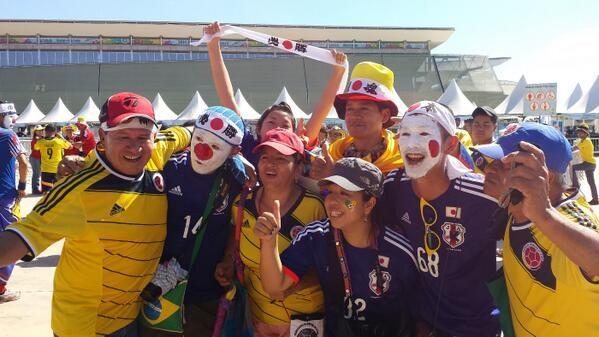 Torcida - Ao vivo: Japão x Colômbia - Copa do Mundo da FIFA™ | globoesporte.com | tempo real. 24/06/2014.
