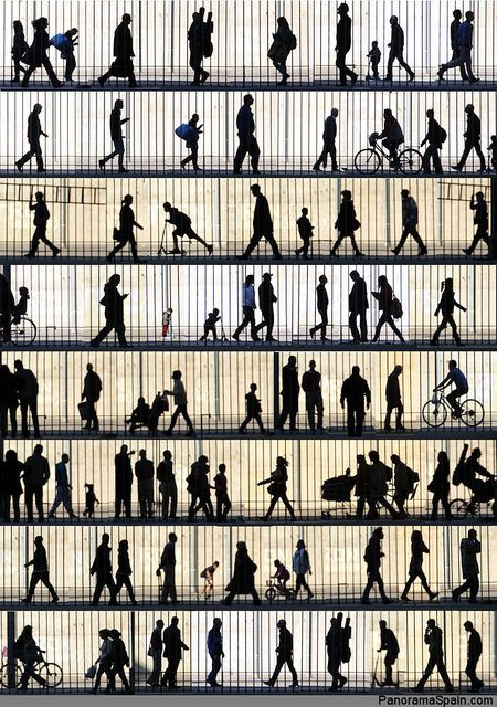 Silhouettes of passers-by in the Raval, Barcelona by Geoff, just beautiful!