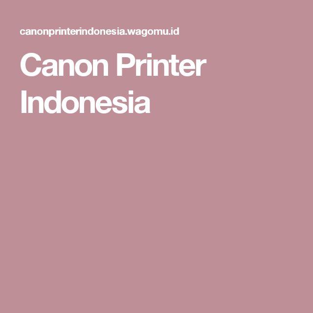 Canon Printer Indonesia
