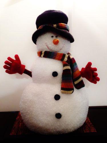 Snowman decorations plush and snowman on pinterest for Snowman decorations