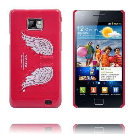Enkelin Siivet - Standi (Punainen) Samsung Galaxy S2 Suojakuori