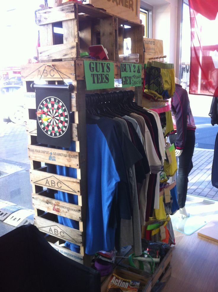 Beer crate rack